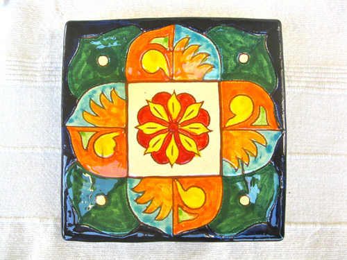 Typical Spanish ceramic plate Andalucia