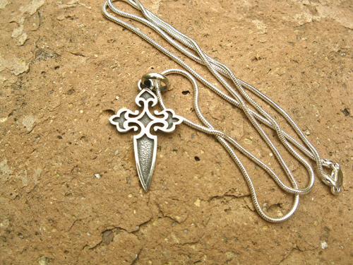 camino de santiago cross necklace