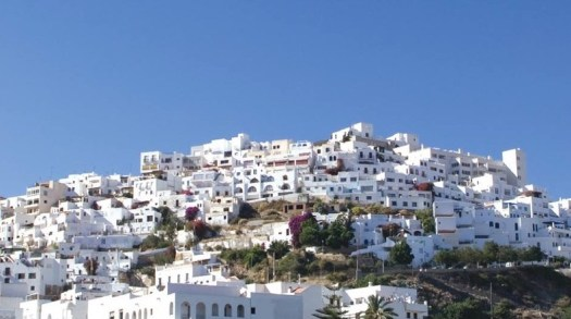 What part of Spain is Mojacar hilltop village