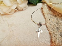 Cross of St James necklace
