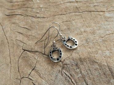 Horseshoe earrings gift for encouragement