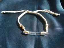 Lourdes water bracelet for get well wishes