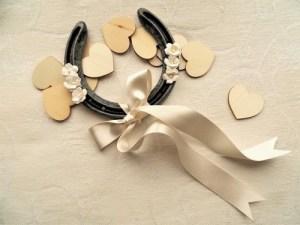 Lucky gift wedding horseshoe