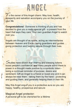 Guardian Angel as Travel Amulet