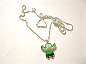 Guardian Angel scallop shell necklace