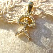 Gold gift for her - Indalo pendant