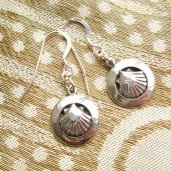 Camino earrings for friend travelling