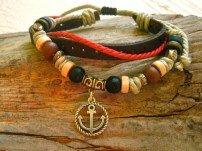 Anchor bracelet for New Year wishes