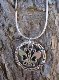 Butterfly charm necklace for New year