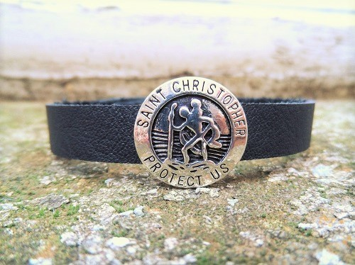 St Christopher protection bracelet for safe travel
