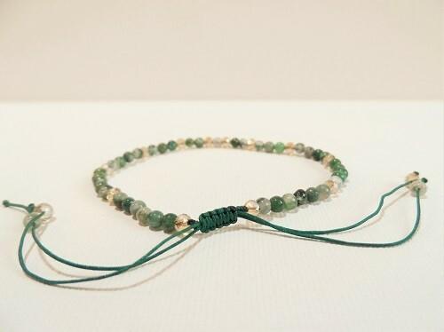 Health Bracelet green stone