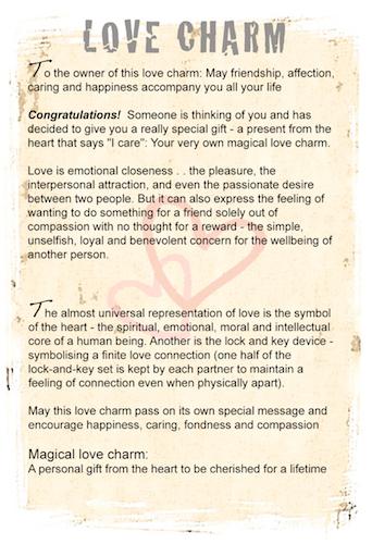 Love Charm gift card