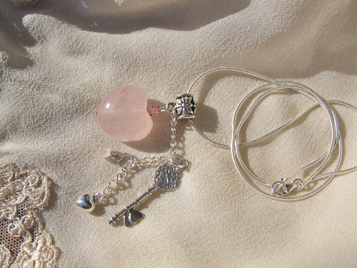 Rose Quartz key to my heart