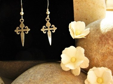Camino St James cross earrings