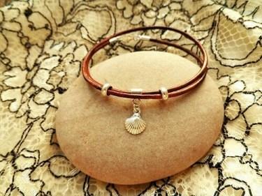 Camino de Santiago bracelet - leather
