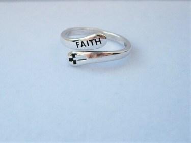 Cross of FAITH ring