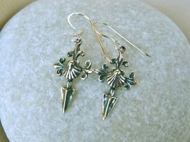 Saint James cross Camino earrings
