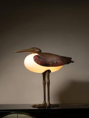 LOT 271 - FRANCOIS-XAVIER LALANNE, LAMPE DITE GRAND ECHASSIER, CIRCA 1990 - ©ARTCURIAL