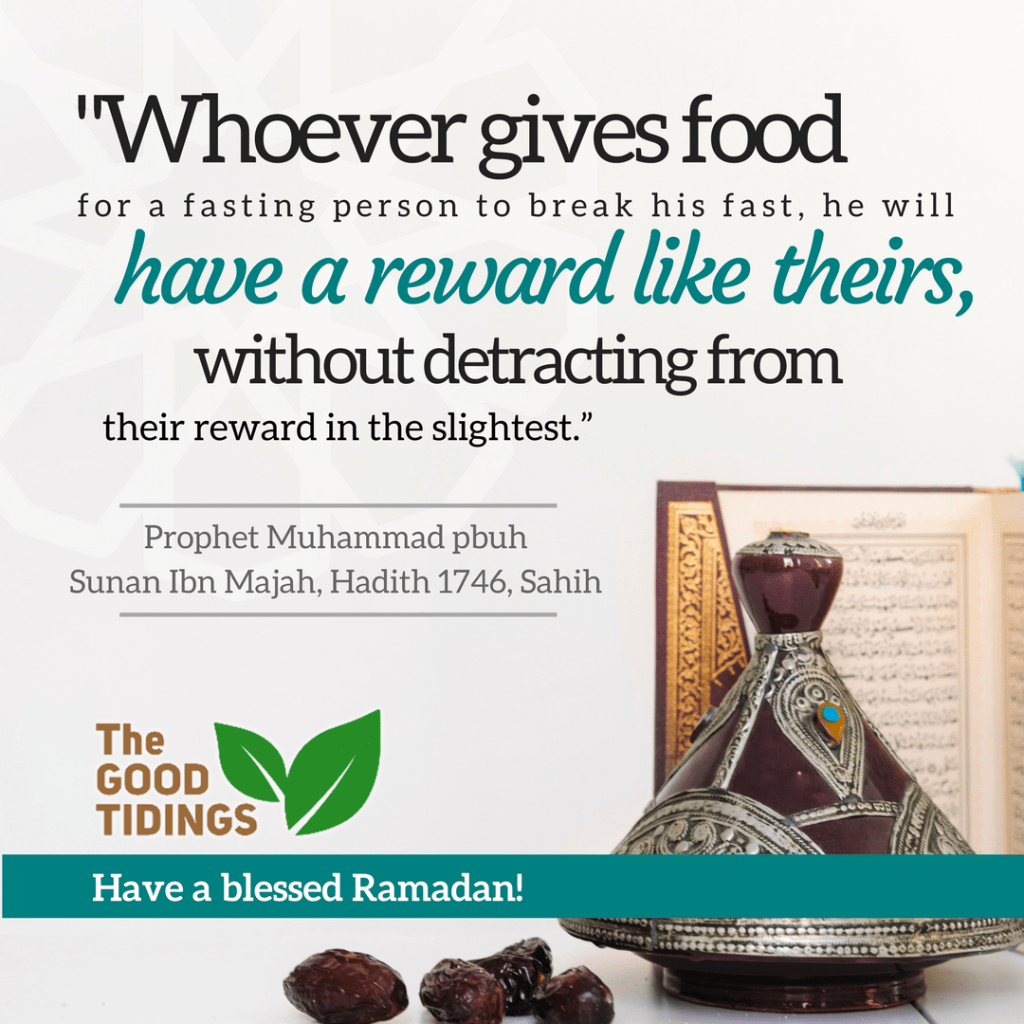 Treat another fasting Muslim to break his or her fast!