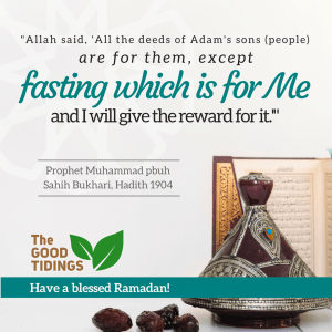 Fasting is for Allah.