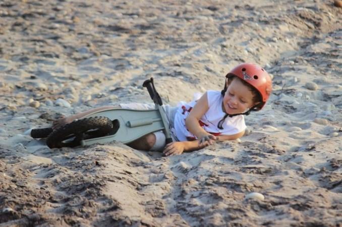 first bike fun smiles