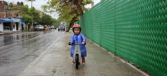 first bike in the rain