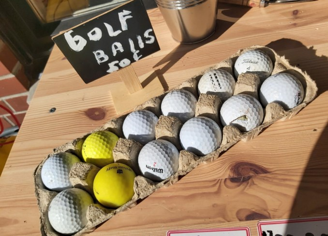 Golf balls resale action