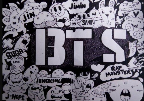 Gambar Doodle BTS