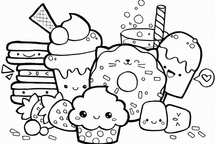 Gambar Doodle Makanan