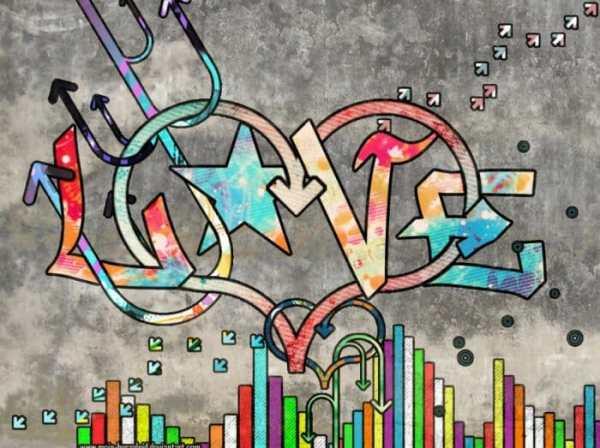 Gambar Grafiti Cinta