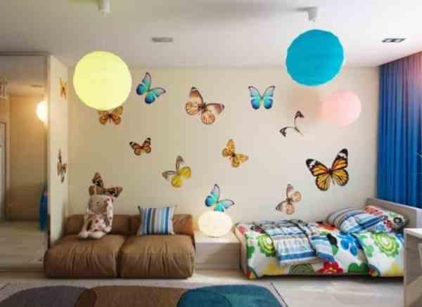 Hiasan Dinding Kamar Dengan Tema Kupu – Kupu