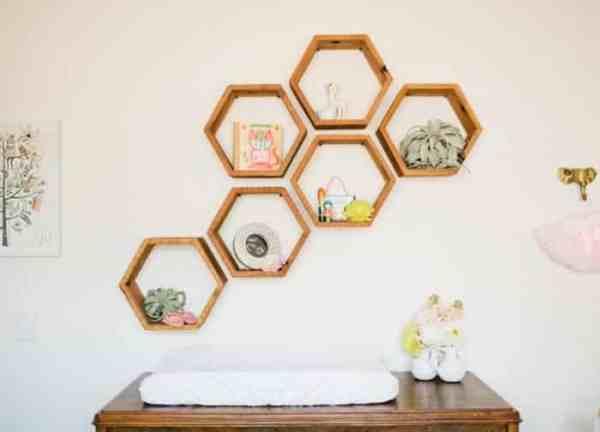 Hiasan Rumah Rak Berbentuk Sarang Lebah
