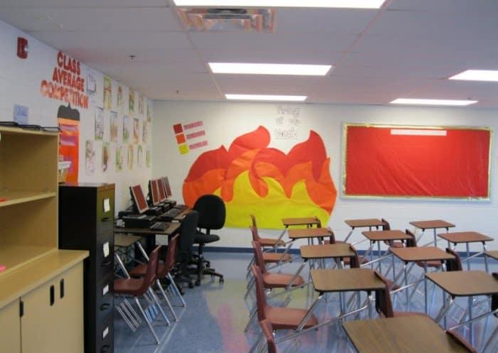 Menghias Kelas Menggunakan Walpaper Dinding