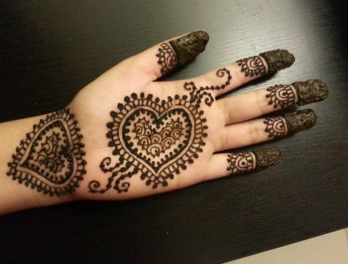 Contoh Desain Henna Simple