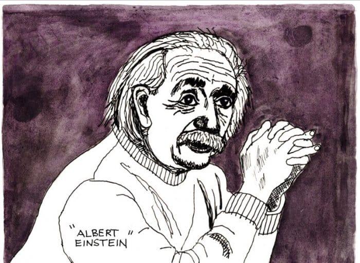 Gambar kartun keren Karikatur Einsten
