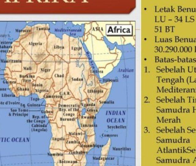 Peta Benua Afrika Kekayaan Alam Batas Wilayah Budaya