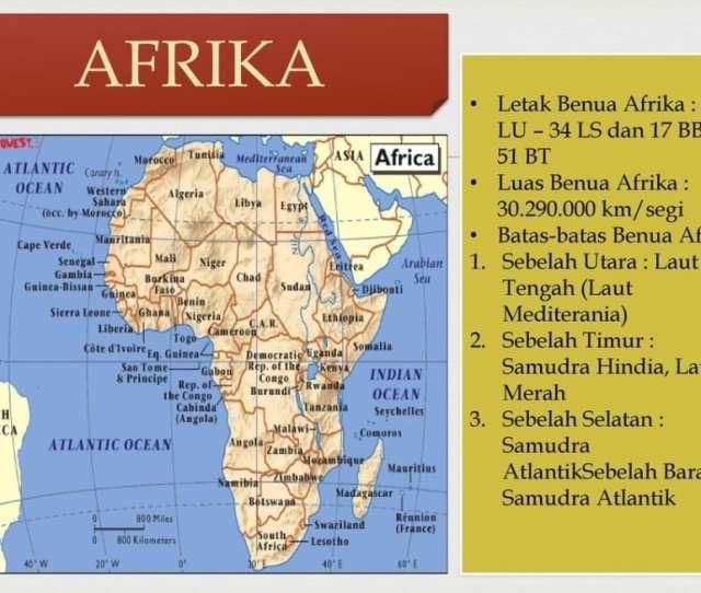 Gambar Peta Benua Afrika Thegorbalsla