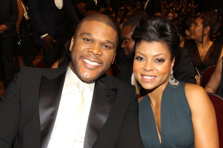 Tyler Perry & Taraji P. Henson (who played the role of Melinda) at the 41st NAACP Image Awards