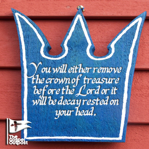 The crown of treasure will be removed from your head