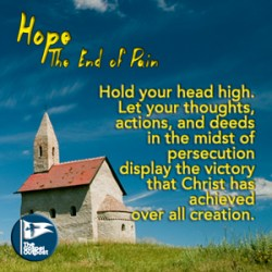 Hold your head up high in the victory that Christ has overcome.