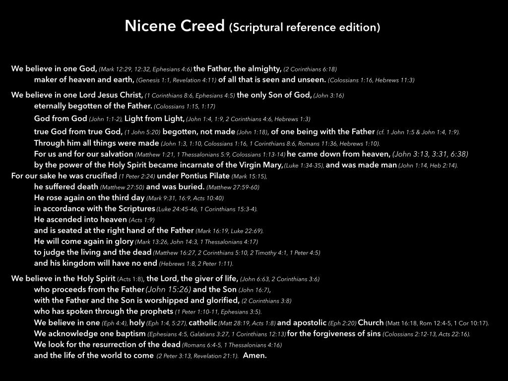 Nicene Creed Vs Apostles Creed Apostles Creed 01 12