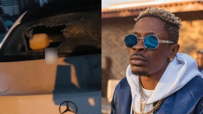 Nana Boro accuses Shatta Wale of smashing windscreen of his Mercedes Benz