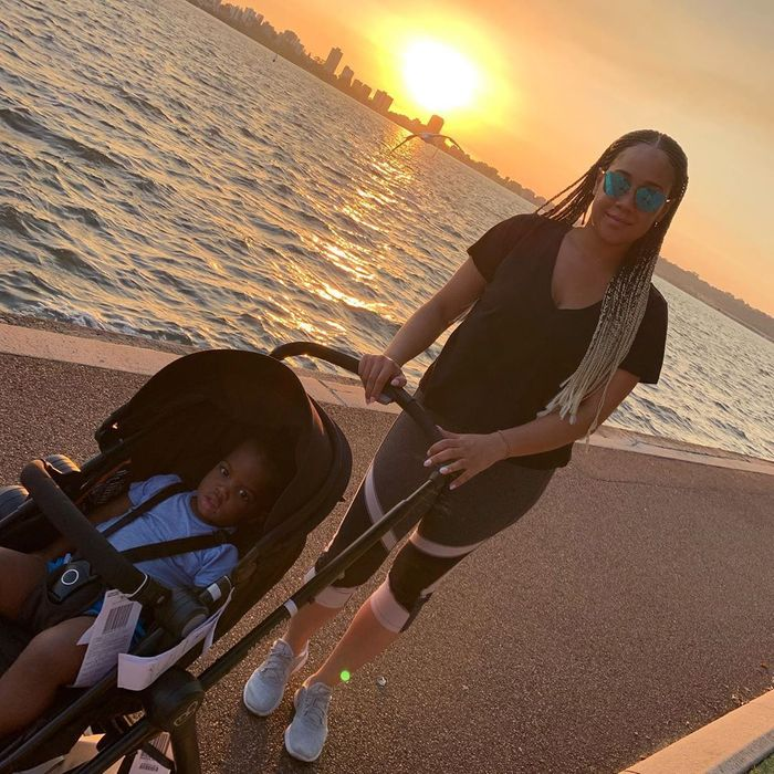 Fred Nuamah's Ex-wife, Martekor Steps Out With Son In Grand Style