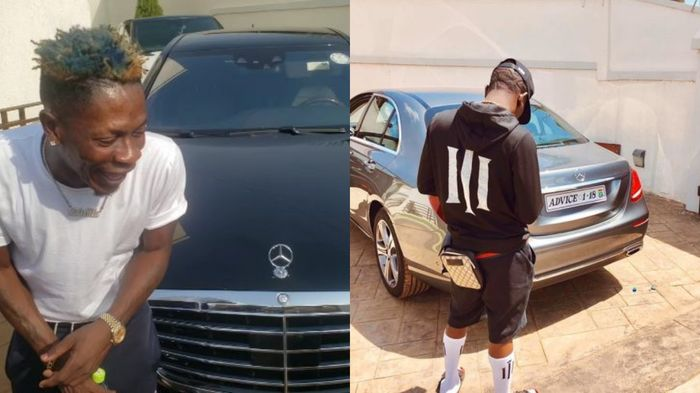 Shatta Wale Re-sprays His Old Mercedes Benz & Claims He Just Bought It?