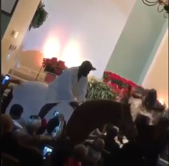 Angry Donkey Throws Away Kanye West While Riding On It In Church