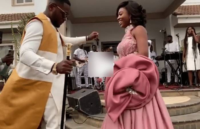 Osei Kwame Despite's Son, Kennedy & Bride, Tracy, Hit The Dancefloor At Their Super-expensive Marriage Ceremony