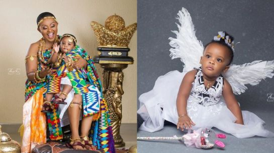 Nana Ama McBrown Finally Shows Face Of Her Adorable Baby, Maxin, To Celebrate Her 1st Birthday