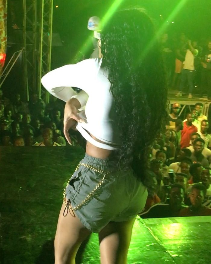 Eazzy Babe Shockingly Goes Topless On Stage At Legon Pent Hall Week Celebration