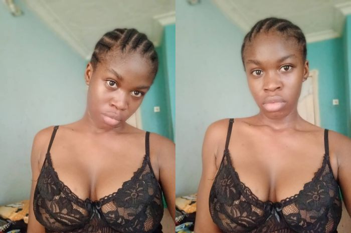 Confusion Hits Twitter As Young And Beautiful Lady Drops no-makeup And Braless Photos Of Herself
