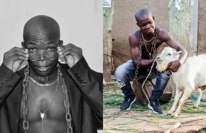 The Only Goat In Ghanaian Music Industry, AY Poyoo Is Trending In Zimbabwe As Zimbabwean Journalist Chases Him For An Interview
